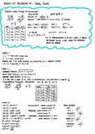 MTH 141 - Study Guide