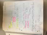 CHE 1113 - Class Notes - Week 7
