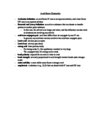 Chemistry and Biochemistry 14a - Class Notes - Week 8