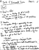 EES 002 - Class Notes - Week 7