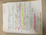 CHE 1113 - Class Notes - Week 8