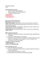 Brooklyn college - PSYC 2810-MW11 - Class Notes - Week 11