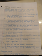 UCR - CHEM 1 - Study Guide - Final