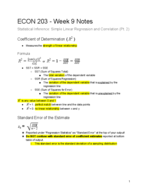 ECON - Class Notes - Week 9