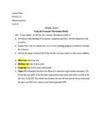 USC - ECON 205 - Class Notes - Week 10