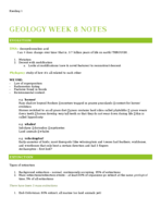 GWU - GEOL - Class Notes - Week 8