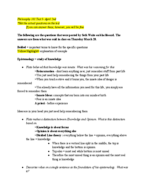Phil  101 - Study Guide