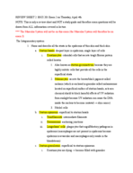 BSCI 201 - Study Guide