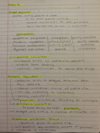 BIO - Class Notes - Week 5
