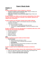 PSY 208 - Study Guide