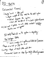 EES 002 - Class Notes - Week 15