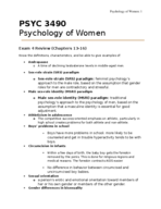 PSYC 3490 - Study Guide