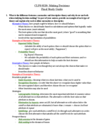 Brown U - CLPS 0220 - Study Guide - Final