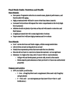 Rutgers - Nutrition and Health 11:709:255 - Study Guide -...