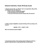 general chemistry 1 study guide
