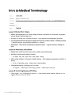 UTD - HLTH 3101 - Class Notes - Week 1