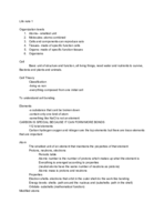 CSU - LIFE - Class Notes - Week 1
