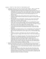 C of C - ANTH 202 - Class Notes - Week 1