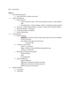 UCONN - PSY 2400 - Study Guide - Midterm