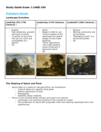 LAND 240 - Study Guide