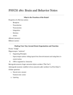Hunter College - PSYCH 180 - Class Notes - Week 1