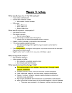 UNLV - HIS 101 - Class Notes - Week 3