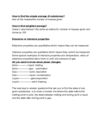 UIC - Chemistry 101 - Class Notes - Week 3