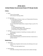VC - POS 2041 - Study Guide - Midterm