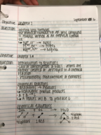 Texas State - CHEM 1341 - Class Notes - Week 4