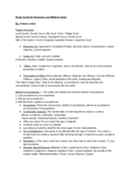 Business 220 - Study Guide