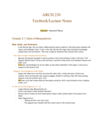 PSU - ARCH 230 - Class Notes - Week 2