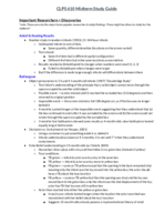 Brown U - CLPS 0610 - Study Guide - Midterm