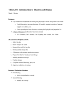 UD - THEA 104 - Class Notes - Week 7