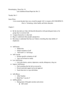 PSY - Class Notes - Week 11