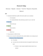 West Valley College - POLI 001 - Class Notes - Week 15