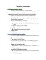 West Valley College - PSYCH 001 - Class Notes - Week 15