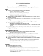 Brown U - CLPS 0010 - Study Guide - Final