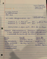 UF - ECO 3203 - Class Notes - Week 1