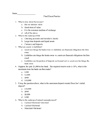 UD - ECON 301 - Study Guide - Final