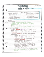 UNO - PSY 1010 - Class Notes - Week 1