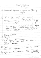 USF - PHY 2053 - Class Notes - Week 2