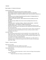 OleMiss - PSY 309 - Class Notes - Week 2