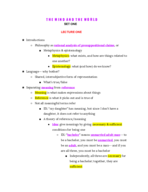 APHI 111 - Class Notes - Week 1