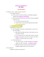 APHI 111 - Class Notes - Week 6