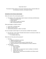 MSU - JUST 340 - Study Guide - Midterm