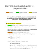 Virginia Commonwealth University - STAT 210 - Class Notes...