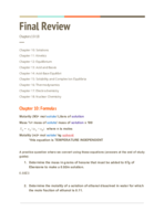 UH - CHEM 1332 - Study Guide - Final