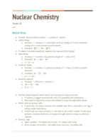 UH - CHEM 1332 - Class Notes - Week 9