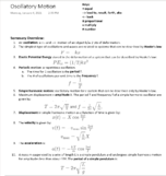 UCSD - PHYS 1C - Class Notes - Week 1