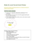 UNG - POLS 1101 - Class Notes - Week 2